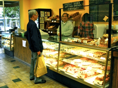Fresh artisan breads and other baked goodies at the West Portal Bakery